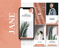 Jane Social Media Templates