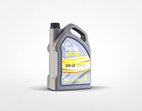 Motor Oil Gallon Mockup