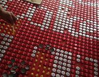 bottle cap wall