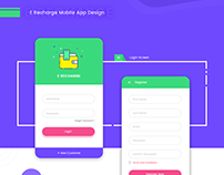 E Recharge Mobile App Design
