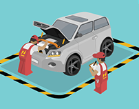 How to Inspect a used car - Infographic