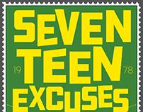 Seventeen Excuse Postage Stamp
