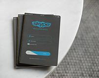 Skype sign in UI