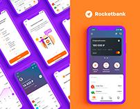 Rocketbank UI/UX mobile app
