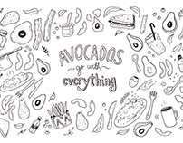 Avocados - Illustrated Pattern