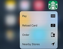 Starbucks App for iPhone — 3D Touch Iconography