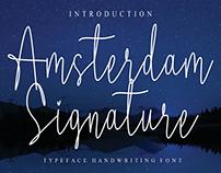 FREE | Amsterdam Signature Font