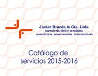 Brochure plegable Ingenieros Rincón y Cía Ltda