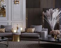 neoclassic villa interior design