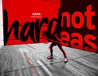 HARD not easy branding concept