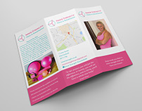 Trifold marketing flyer for a Pilates Instructor