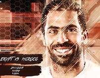EGYPT VS MOROCOO MATCH CARD