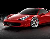Ferrari 458 Italia - Studio Rendering CGI