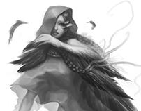 Black Angel Jezebel (BW sketch)