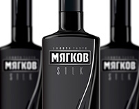 Myagkov Vodka packaging design