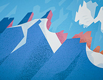 Chamonix Illustration