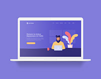 Coworking space - illustrations and website design