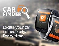 2014: Car Finder - Samsung Gear S app UI