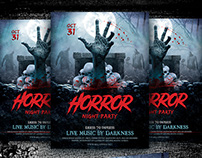 Horror Night Flyer Template