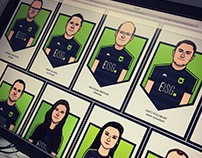 Team illustrations for 'Executives in Sport Group'