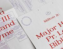 Milton Jr. Specimen Font