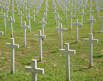 In Vukovar, the Memorial Cemetery of the victims