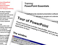 PowerPoint training manual