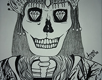 Gráfic Art Work Skull Queen
