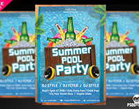 Summer Pool Party Flyer PSD Template