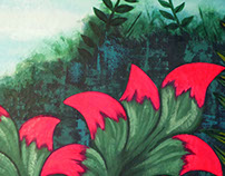 Mural for The Full Moon Hostel: 'Garden of Eden'