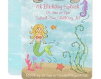 Mermaid party stationery