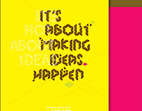 It's not about ideas | Typography Poster