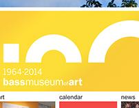Bass Museum of Art, anniversary logo, 2014.