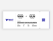 MIAT - Boarding pass