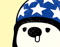"Old-fashioned Character ""Polar bear"""