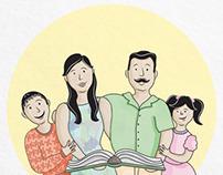Ilustración para Libro sobre la Familia