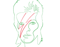 Bowie Lineart
