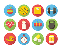 Free Fitness Icon Set