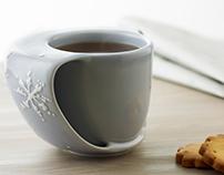 ToastyMUG snowflakes - hand warmer mug