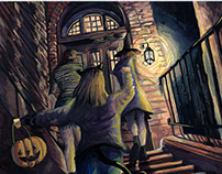 Trick or Treat!: Gouache Paintings