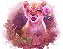 Digital Art Tiger Laugh