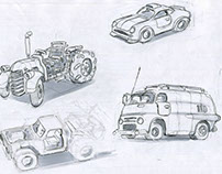 Cars (sketches, part 4)