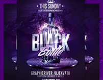 Black Bottle Party | Psd Flyer Template