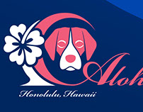 Aloha Spirit Beagles logo design