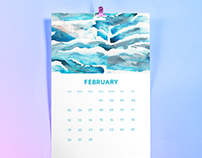 2017 Abstract Pattern Calendar