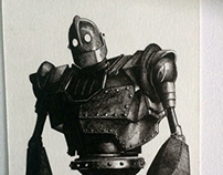 Iron giant, ink drawing