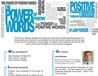 Flyer The Power of Positive Words