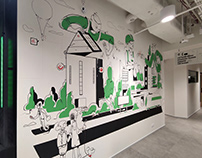 Mural for Proptech Fundation