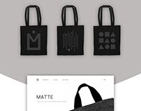 MATTE | Fashion Canvas Bag Branding & Advertisement