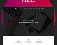 StarR - One Page PSD Website